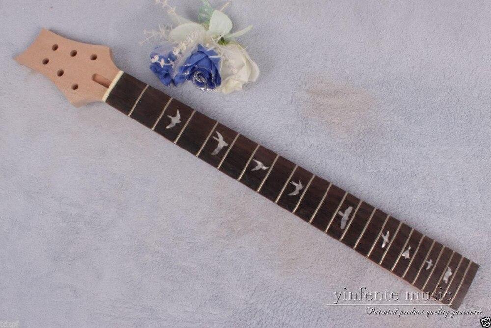 1pcs electric guitar neck solid wood 22 fret 24.75'' rose wood Truss Rod #764 new electric guitar neck maple wood 22 fret 24 75 truss rod bird inlay 767