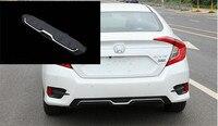 ABS Chrome заднего бампера Диффузор Бамперы для автомобиля губ протектор гвардии опорная плита Подходит для Honda Civic 2016 2017