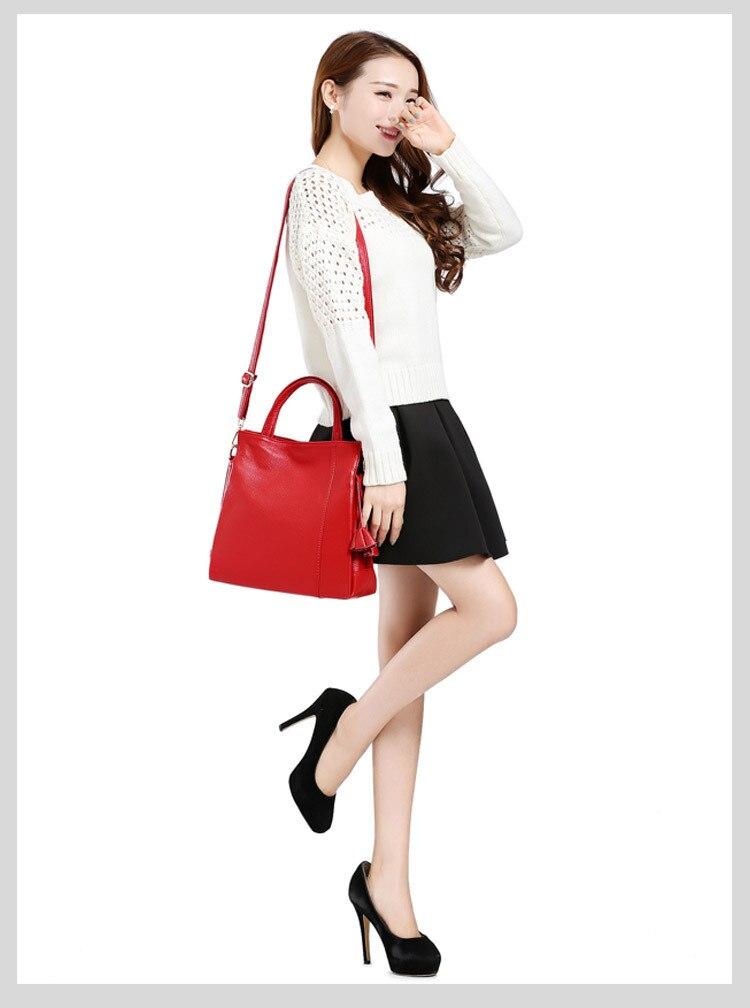 À A Européen Couleur Casual Messenger Sac poignée En b Femelle Lady Cuir c Mode Style e d Grande Main De Véritable Capacité Haut Zipper Solide RvqndRUA
