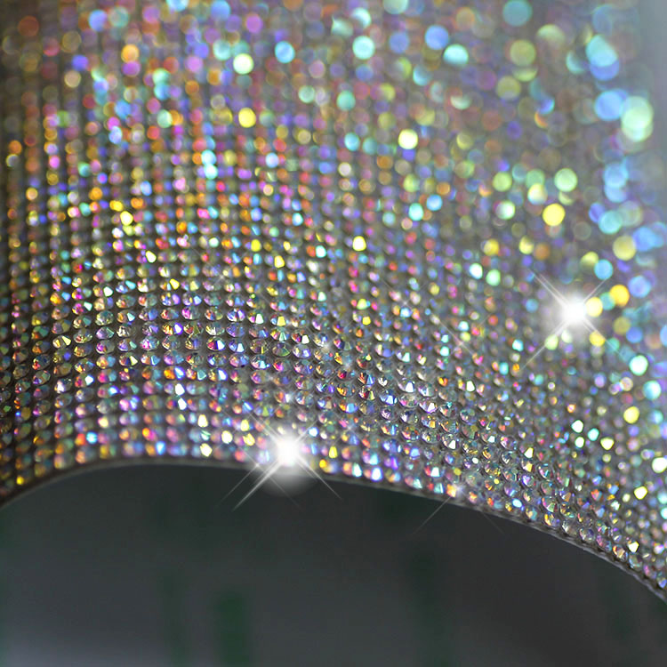 Free ship!24x40cm roll 2mm super close Crystal AB Rhinestones Trim Hotfix  or self ADHESIVE strass Applique Banding beaded 2261b20eec3e