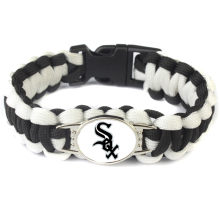 Custom Base Ball Teams Paracord Bracelet Chicago White Sox MLB Team Sport Fans Baseball Bracelets Friendship Dropshipping