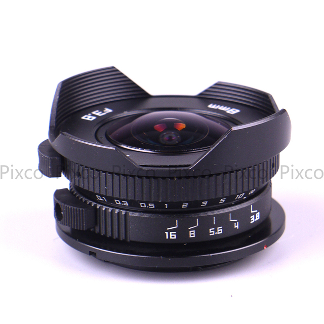 8mm F3.8 +Gift Suit For Micro Four Thirds Mount Camera Fish-eye C mount Wide Angle Fisheye Lens Focal length Fish eye Lens