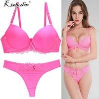 2988816d4 Sexy Brand 2018 Seamless Printing BC Women Bra Set French Romantic Lady Bra  Brief Sets Thong