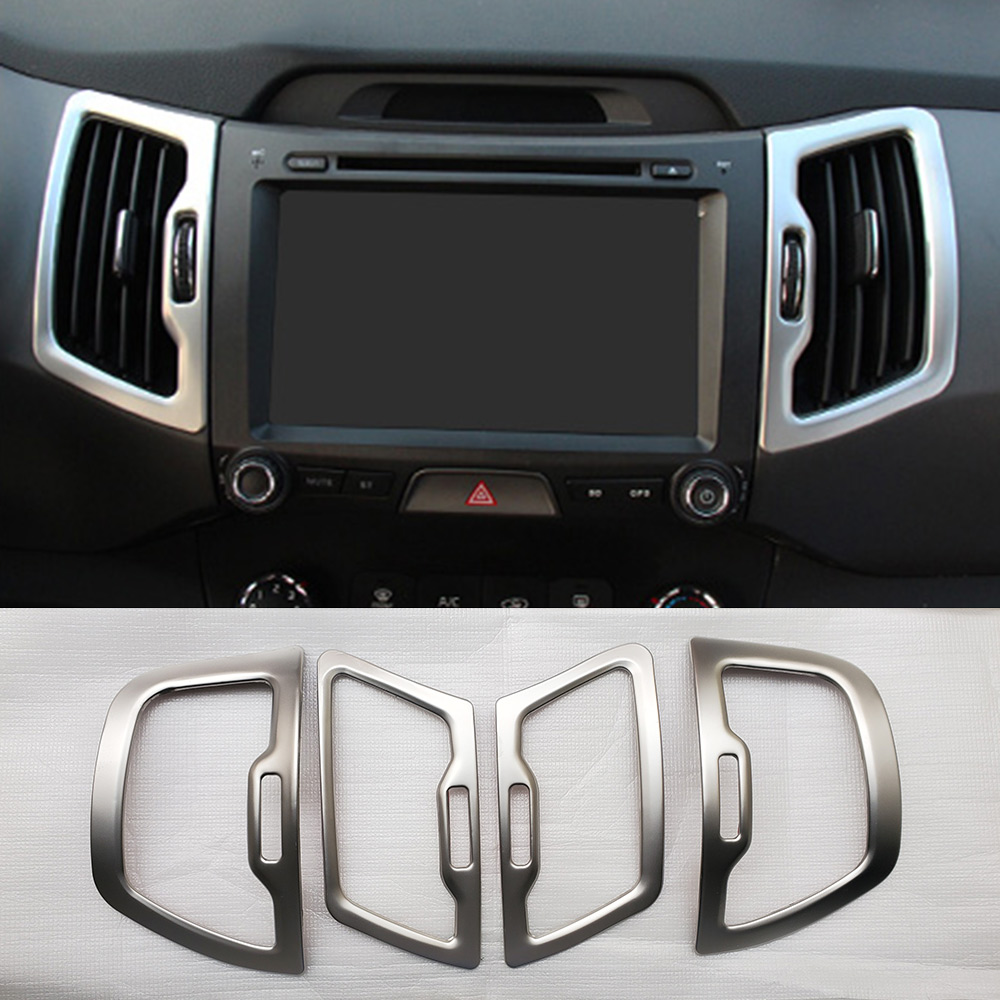 INTERIOR AIR VENT OUTLET BEZEL MOLDING GARNISH COVER FOR 2011 2012 2013 2014 2015 KIA SPORTAGE ACCESSORIES CAR STYLING