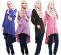 2016 Мусульманин абая платье блузка Исламская платья дубай кафтан Исламская одежда Мусульманская абая Платье турецкий джилбаба хиджаб 031