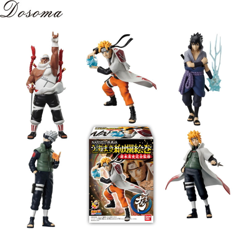 New Arrive 5 Pcs Set Naruto Action Figure Classic Toys Cool Kakashi Sasuke Uzumaki Anime