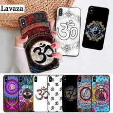 Lavaza Floral Om Yoga Hindu Aum om yaga Luxury Silicone Case for iPhone 5 5S 6 6S Plus 7 8 11 Pro X XS Max XR