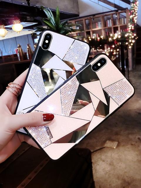 Mirror Rhombus Phone Case for iPhone
