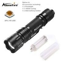 AloneFire TK105 Cree V6 XP-L Potężne Latarka LED Wysokiej Mocy kieszeni Latarkę 5 Trybów Światła Światło dla AAA lub 18650 baterii