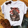 Japan anime style food design sushi kaiju tshirt men summer new white short homme casual Harajuku funny t shirt unisex streetwea