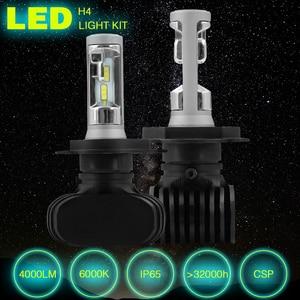 Image 5 - الصمام لمبة H4 H7 S1 مصباح أمامي للسيارة التصميم مصابيح عالية منخفضة شعاع Autuo السوبر مشرق Lampada LED H4 السيارات لمبة CSP 8000LM 6000K