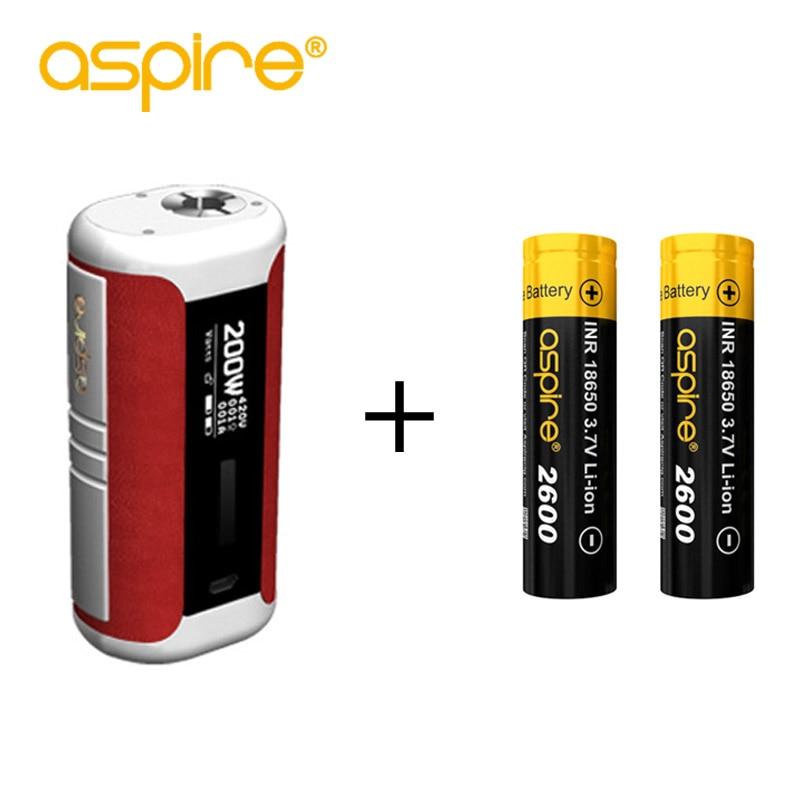 Sigaretta elettronica Aspire Speeder 200 W Box Mod Con 2 pcs 2600 mAh 18650 Fit Aspire Speeder Revvo Kit Speeder 200 W Kit