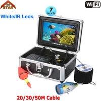 Профессиональный Рыболокаторы подводный Рыбалка видео Камера Wi Fi 7 Цвет Мониторы 1000tvl HD Cam 12 шт. Инфракрасная подсветка лед эхолот