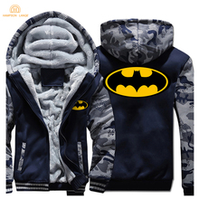 Super Hero Batman Sweatshirts Men 2019 Winter Jackets Mens Warm Fashion Thick Hoodies Hip Hop Brand Streetwear Coat