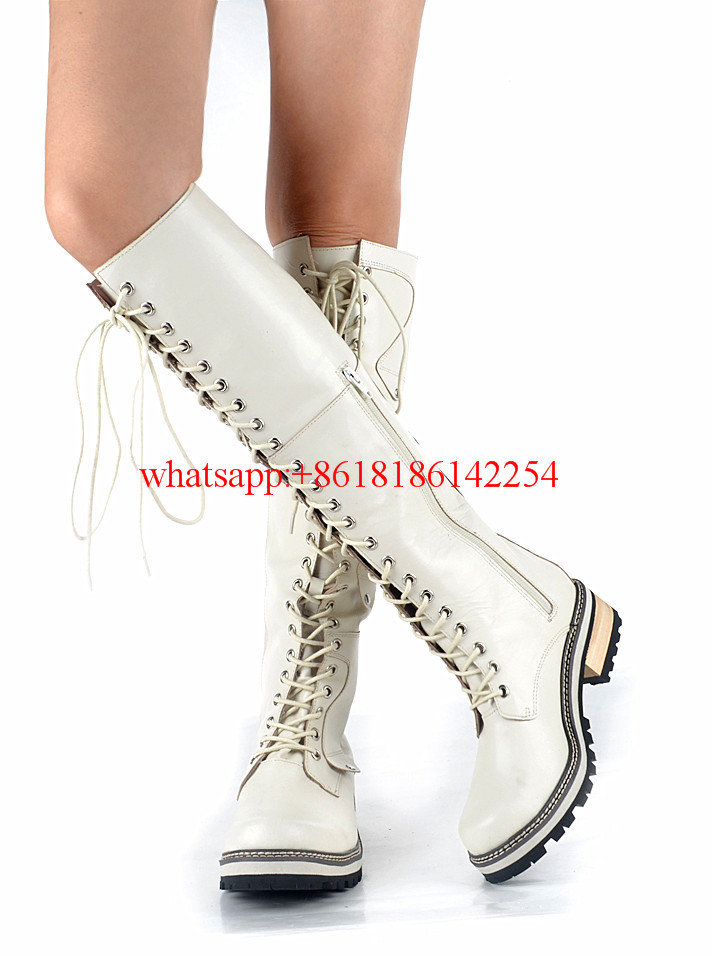 Winter/Autum Knee High Boots Women Thigh High Boots Lace Up Platform Boots Retoo Knight Boots Temperamental Botas Mujer