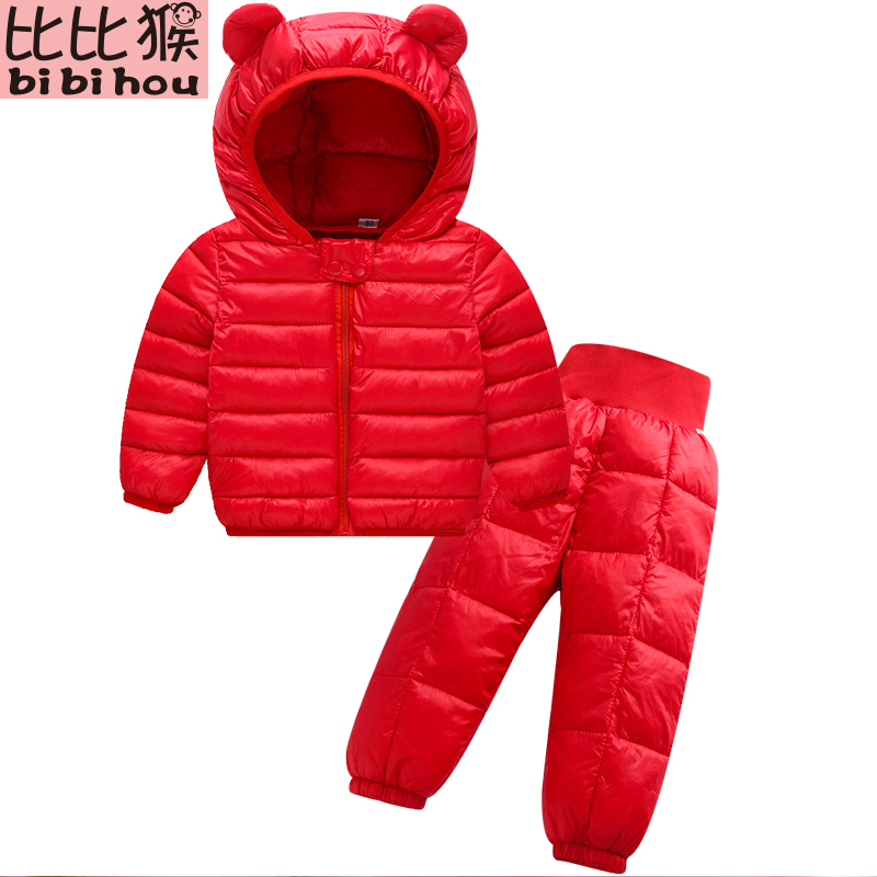 winterjas jongen Girls boys winter   coat   kids   down     coat   Winter jackets girls outerwear children clothes 2PCS set doudoune fille