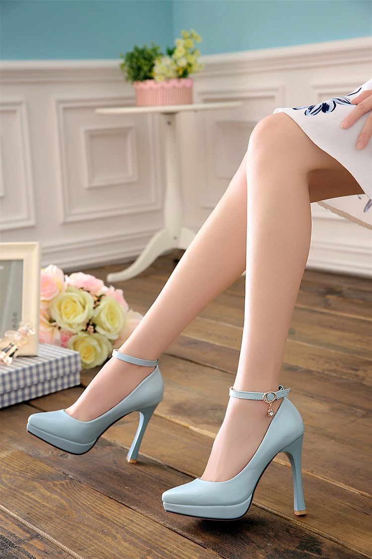 2017 woman pumps white wedding shoes women high heel shoes platform shoes sy-1887 7