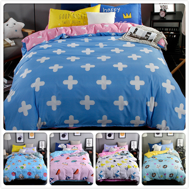 180*220 230*230 Duvet Cover Kids 120 150 180 King Queen Double Twin Size 3/4 pcs pieces Bedding set Bedsheet Bedlinens Bed Linen