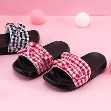 Girls Sandals Summer Ruffles Slippers Sweet Lattice Pink Sli