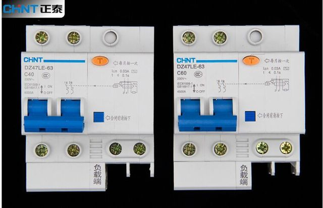 New Air Switch House Home circuit breaker DZ47LE 63 2P C40 32A ...
