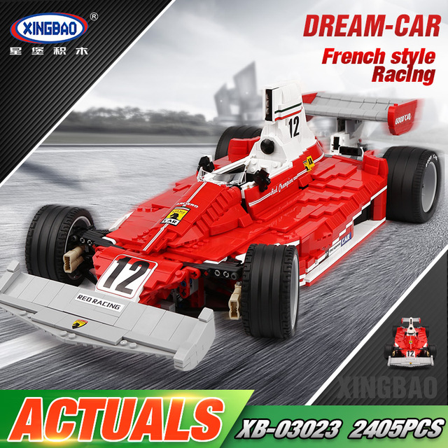 Xingbao 03023 Auto Spielzeug 2405 Stucke Die Rote Power Racing Auto