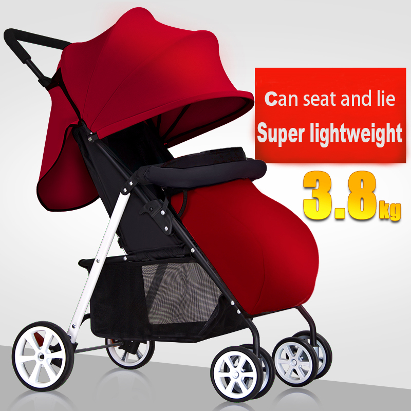Portable baby stroller baby car folding umbrella car shock absorbers four wheel child trolley baby car baby stroller babyruler ultra light portable four wheel shock absorbers child summer folding umbrella cart