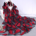 Pañuelo Bordado de gran tamaño para Las Mujeres Étnicas Flor Hojas Sirsaca Wrap Bufandas y Chales Ladies Casual Chic Floral de Seda