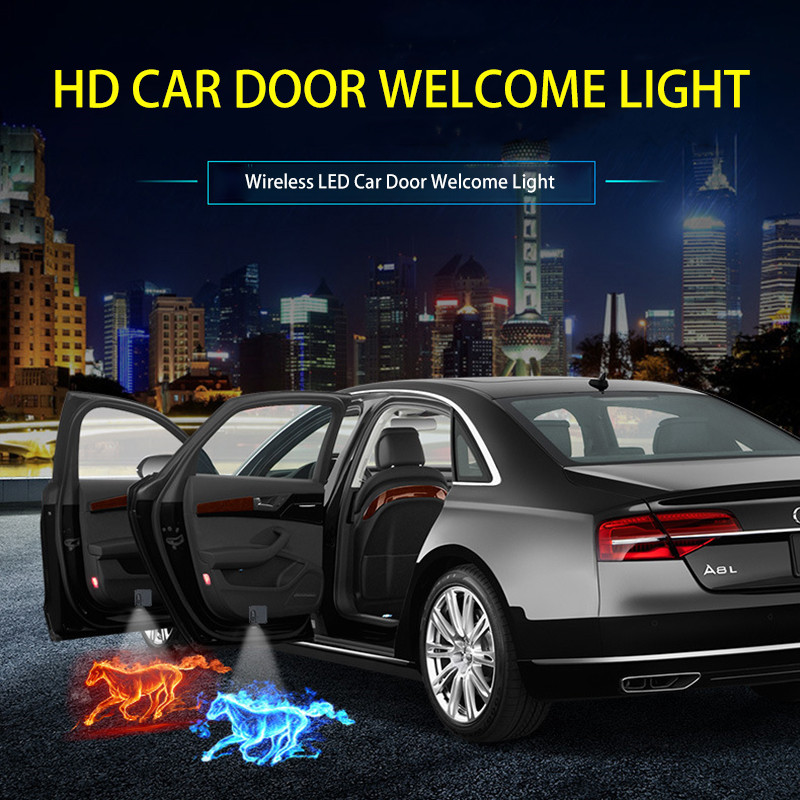 1pcs Wireless LED Car Door Welcome Laser Projector Logo