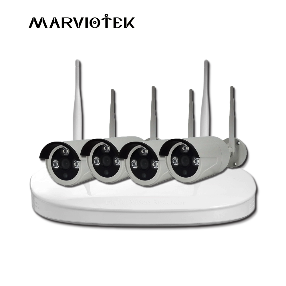4CH 1080P NVR CCTV System Outdoor 8CH IP Camera System HD NVR Kit Recorder Video Security Camera Weatherproof Surveillance Set 4ch nvr 1tb hdd hard disk 4pcs 1 0mp ip camera ir weatherproof outdoor 720p cctv camera security system surveillance kit
