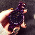 Top Quality Brand Women Rhinestone Watches Lady Shining Dress Watch Big Diamond Stone Wristwatch Lady purple Watch montre femme