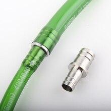 Нержавеющая сталь аквариум СО2 Авиакомпания трубка шланг адаптер конвертер 12 мм до 16 мм аквариум водопровод соединитель прямое соединение комплект