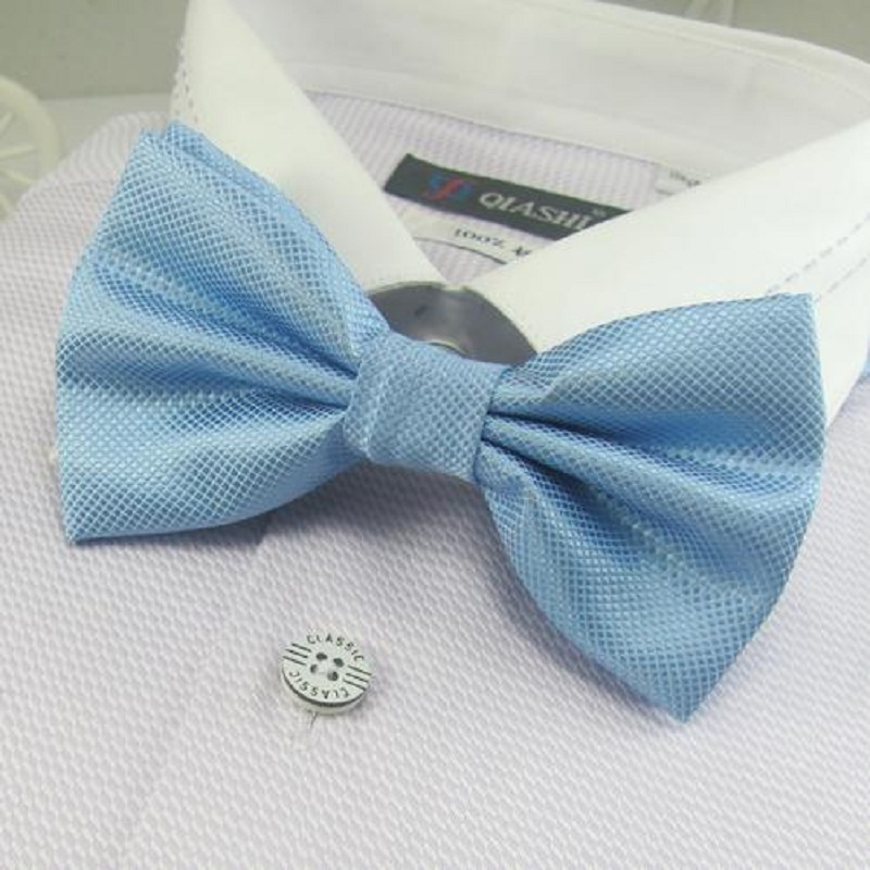 men solid bowties bows blue tie knots bow ties necktie butterfly