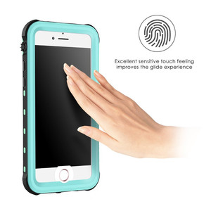Image 3 - For iPhone 7 plus Waterproof Case Ultra Slim Thin life water Dust Shock proof Case Full Body Protective Cover for iPhone7 7plus
