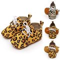 Toddler Baby Shoes Horse Hair Genuine Leather Zebra Striped Leopard Shoes Soft Soled Infant Shoes Soft Sole First Walker