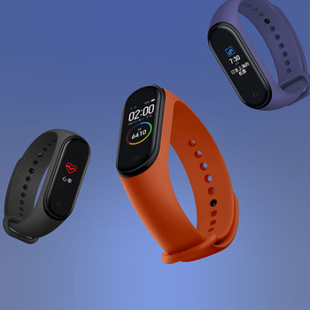 In Stock New Xiaomi mi band 4 Smart Miband 4 50M Waterpproof Heart Rate Fintess AMOLED Color Screen Band4 Miband4 Clock Bracelet 1