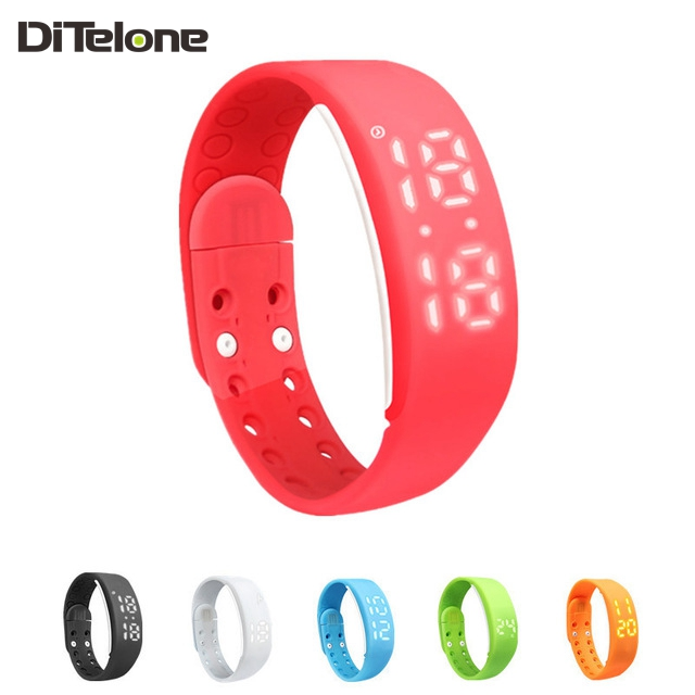 DiTelone W2 Smartbands Bracelet Time Display Smart Watch with Calorie Pedometer Temperature Sleep Monitor Waterproof Wristbands