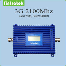 High Gain 70dB  3G signal repeater 2100mhz WCDMA signal amplifier 3g repeater 2100mhz signal booster with LCD display
