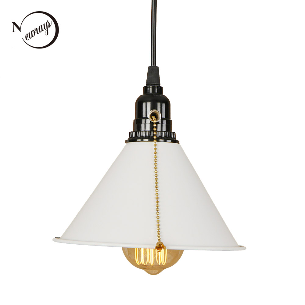 Vintage Art Deco Pendant Light LED E27 Modern Loft Hanging Lamp With Switch For Living Room Bedroom Kitchen Restaurant Office