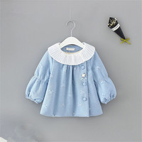 Baby Girl Coat Winter Clothes 2018 New Fashion Princess Kids Jackets for Girls Warm Thick Children's Outerwear Infant Clothing