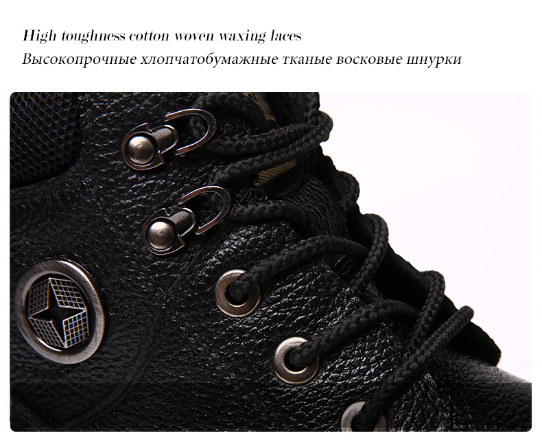 b692528d0cb FLASH SALE] MVVT Genuine Leather Boots Men Winter Boots Waterproof ...
