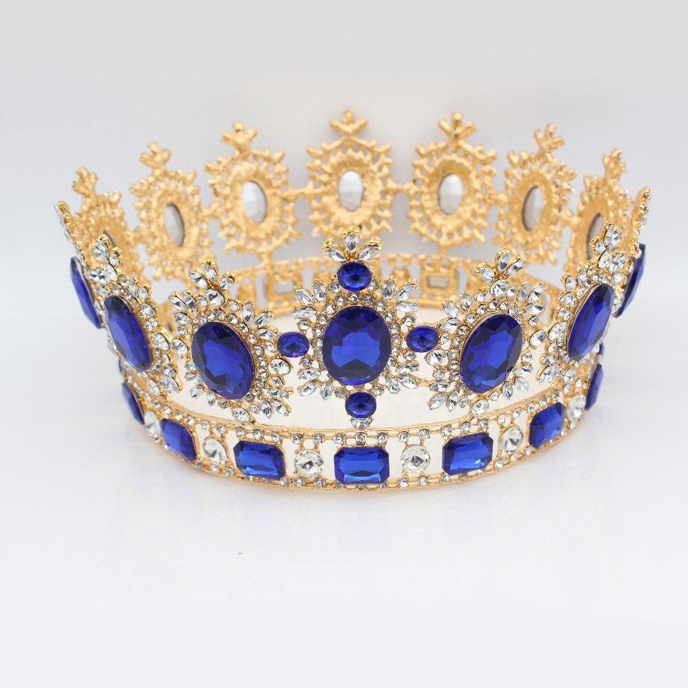 все цены на Luxurious Silver/Gold Crystal Baroque Wedding Bridal Tiara Crowns Women Party Diadem Headpiece Bride Hair Jewelry Accessories онлайн