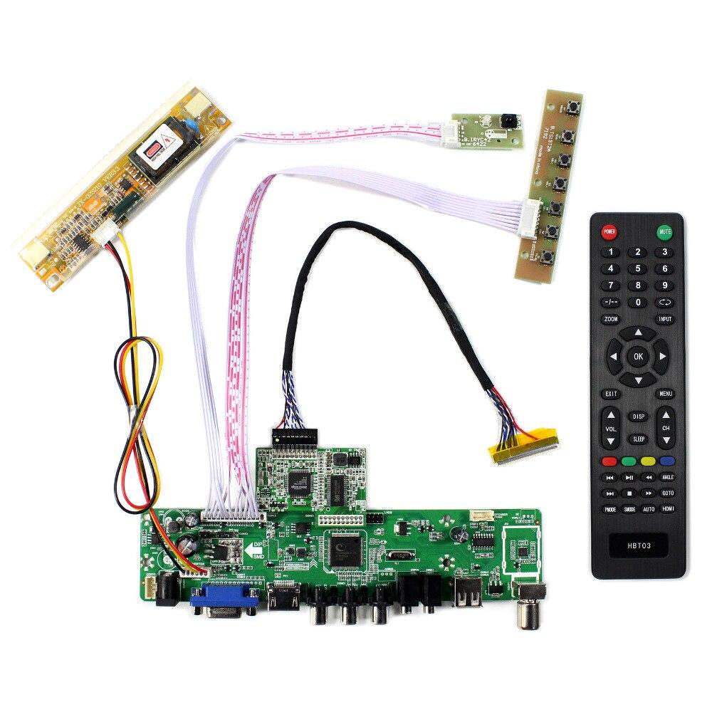 TV HDMI VGA AV USB Audio LCD Controller Board For 17 LM171W02 TTA1 1440X900 LCD Screen