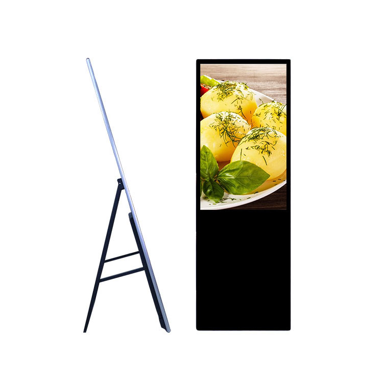 43 Inch Indoor Floor Standing Foldable LCD LED HD Digital Signage Advertising Display Monitor Screen For Shop/retail Store