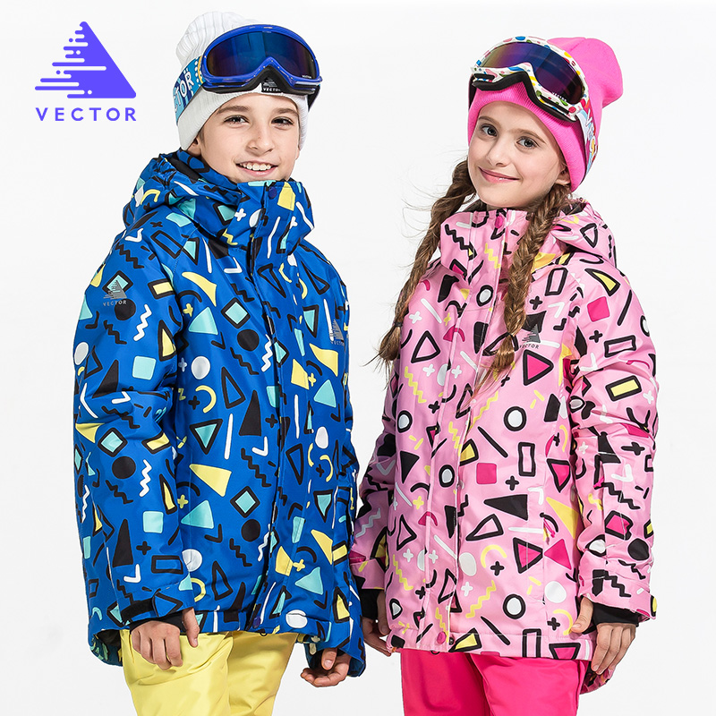 Warm Winter Children Ski Jacket Boys Girls Skiing Snowboard Jackets Child Windproof Waterproof Outdoor Snow Coats Kids