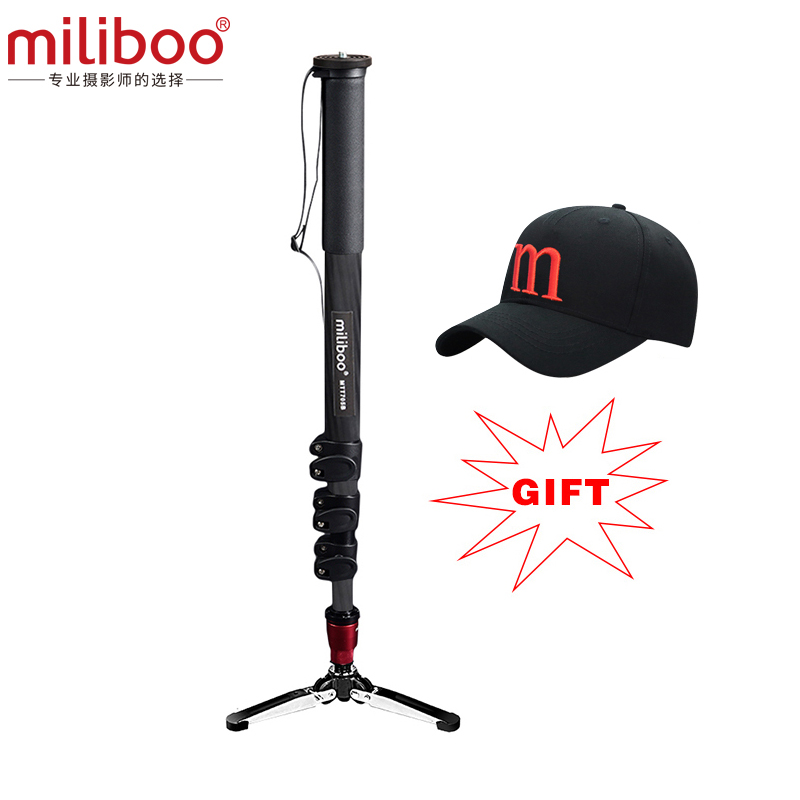 2017 miliboo MTT705B Professional Carbon Fiber Camera Tripod without Hydraulic Head / monopod dslr stand free shipping