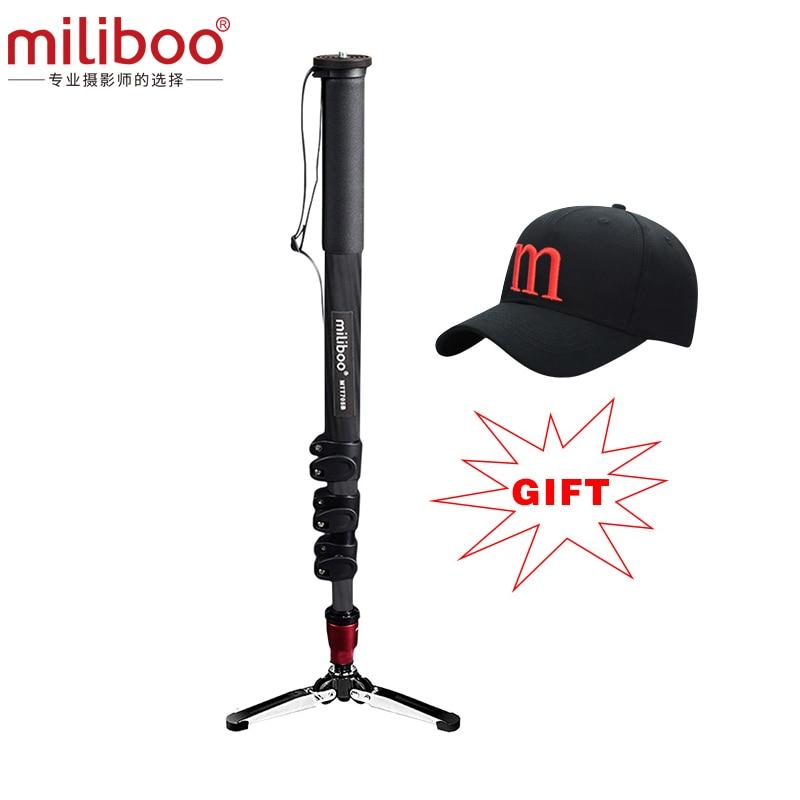 2017 miliboo MTT705B Professional Carbon Fiber Camera Tripod without Hydraulic Head / monopod dslr stand free shipping
