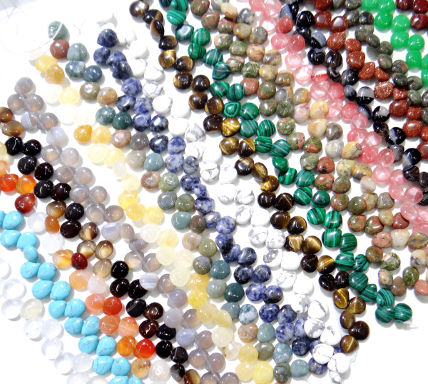 Natural stone Turquoise Quartz agate Opal water drop spacer bead 10*12mm for Diy charm Jewelry Making Bracelet Necklace 32pc/lot(China)