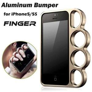 Image 5 - 100% alliage daluminium boxe pour iPhone 5 5s pare chocs mode seigneur anneaux knuckle doigt téléphone cadre housse pour iPhone 5G SE