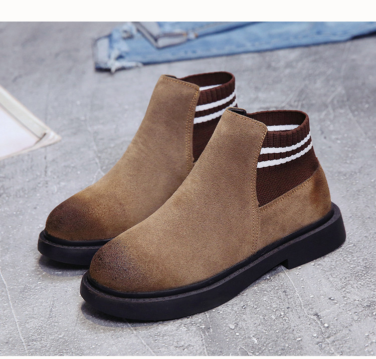The new autumn 2018 Martin boots flat short tube with restoring ancient ways round head women's boots 53