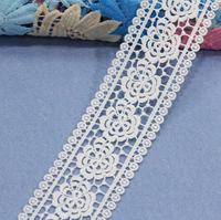 20Yards Venise Lace trim Wedding DIY Crafted Sewing White Appliques